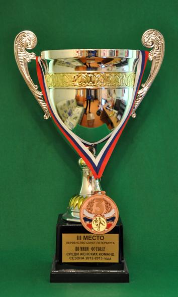 3 место Первенство Санкт-Петербурга по мини-футболу среди женских команд